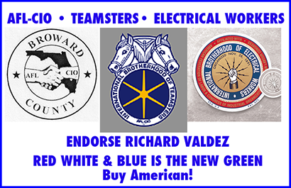 AFL-CIO, Teamsters, International Brotherhood of Electrical Worksers Endorse Richard Valdez