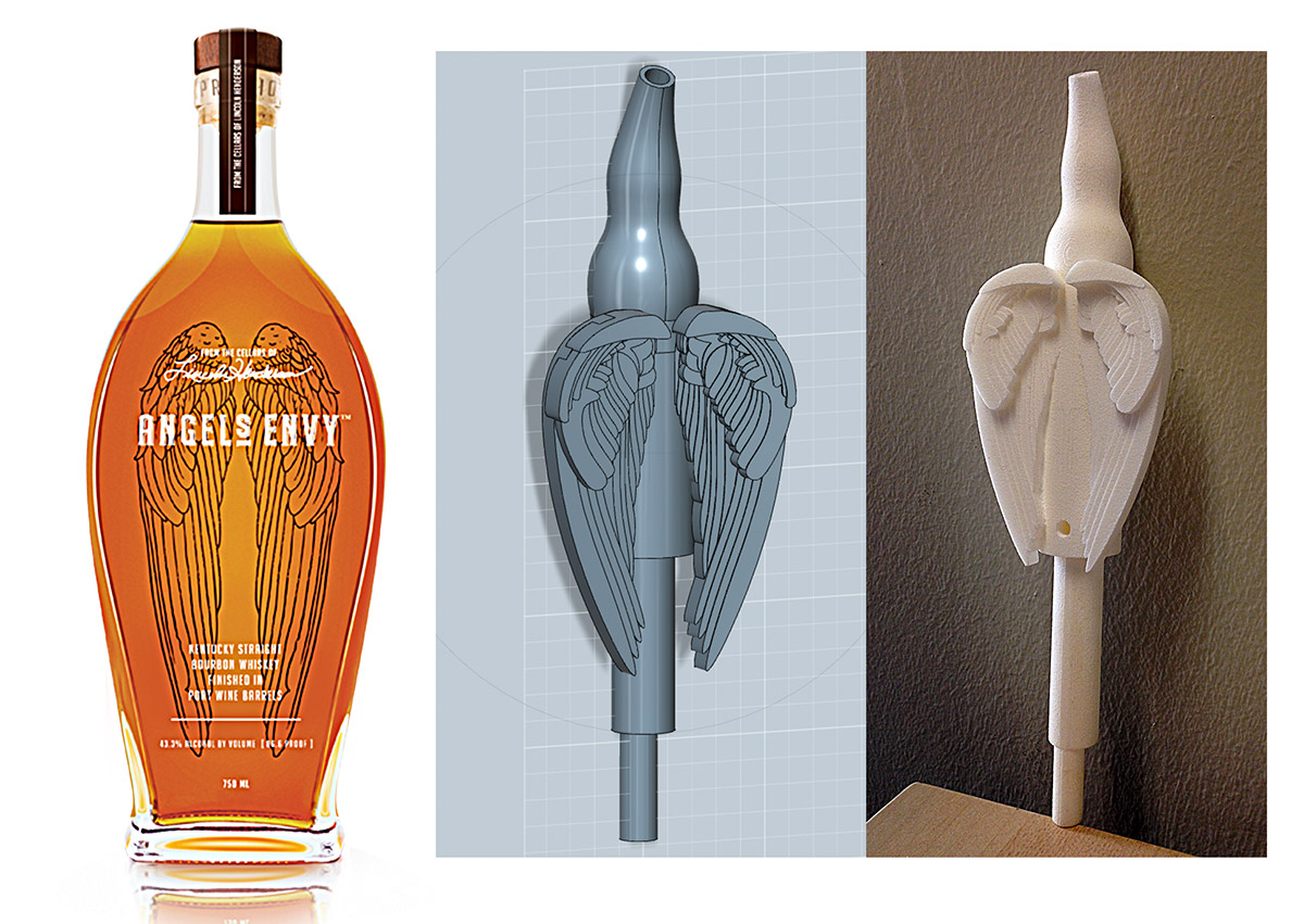 Angels Envy 3D Bottle Pour